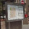 ステンレス屋外ポスター掲示板の製作事例。自治会/工場案内/会社案内の掲示に向く。オリジナル/特注で寸法やデザインが自由