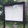 アルミ製 町内会ポスター掲示板の製作事例